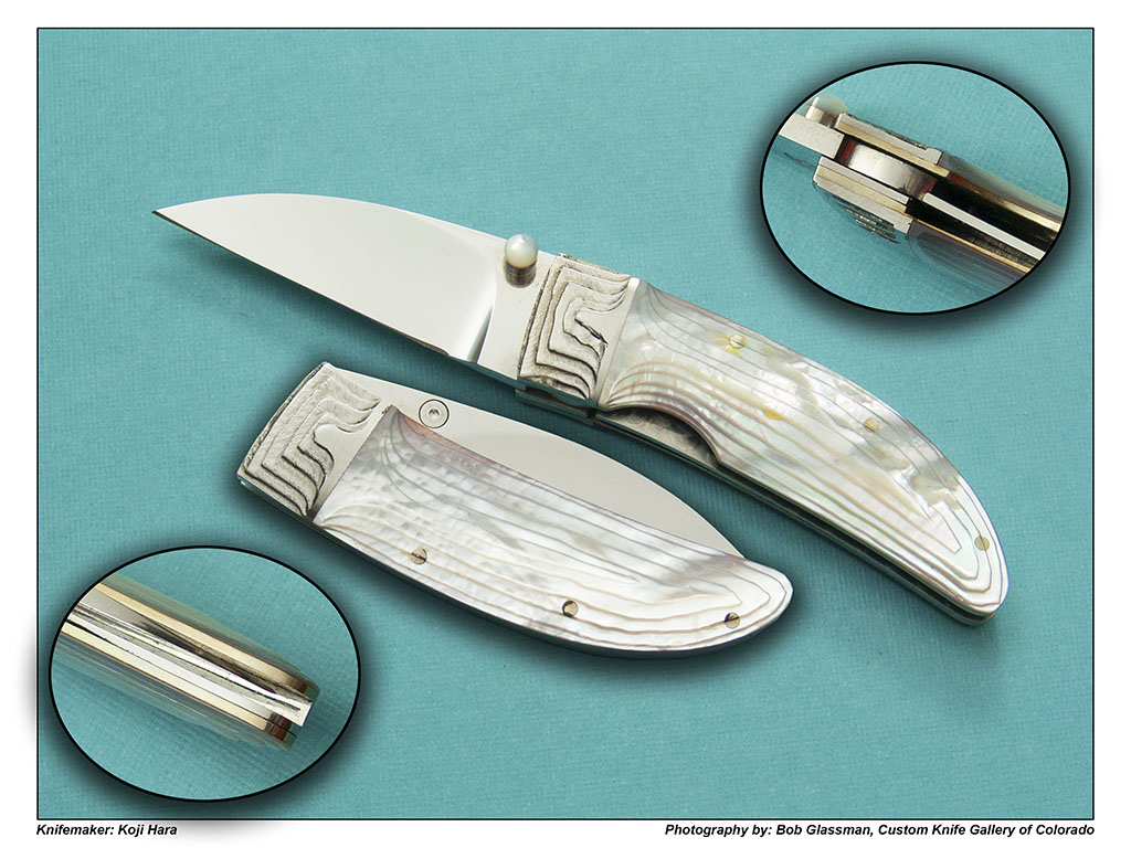 Koji Hara – Stair Stepped Mother of Pearl Wharncliffe Folder