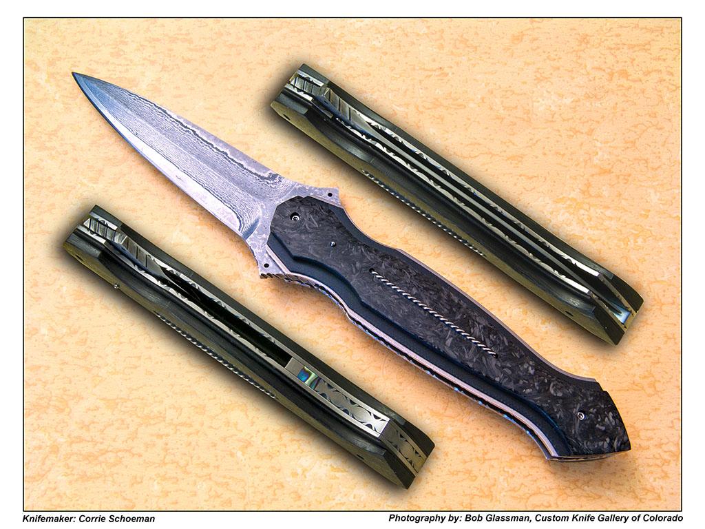 Damascus Flipper Dagger