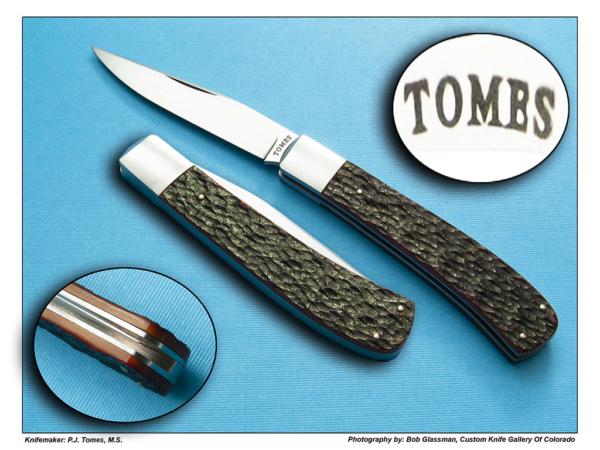 P.J. Tomes Single Blade Trapper - Jigged Bone